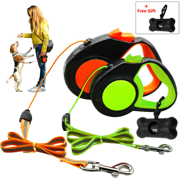 Retractable Reflective Dog Leash With Free Dog Waste Dispenser - Swag for My Dog