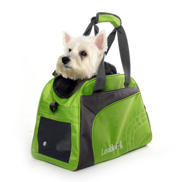 Sportive Travel Dog Bag Outdoor Carrier Bag for Small Breeds Nylon Breathable Portable Dog Cat Puppy Tote Single Shoulder Pack - Swag for My Dog