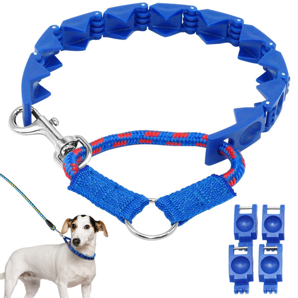 Plastic Dog Training Collar Martingale Dogs Choke Collars For Medium Large Dogs  with Extra Links for Leads - Swag for My Dog