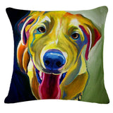 Oil Painting Dogs Cushion Covers - Decorative Linen Pillow Case - Swag for My Dog