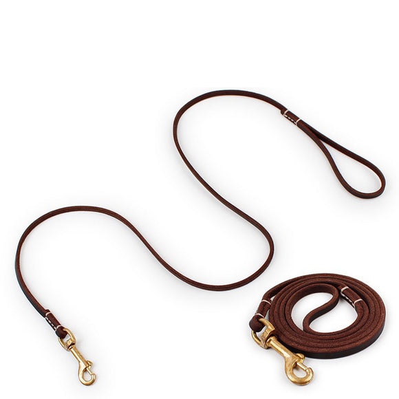 Genuine Leather Walking Leash - Swag for My Dog