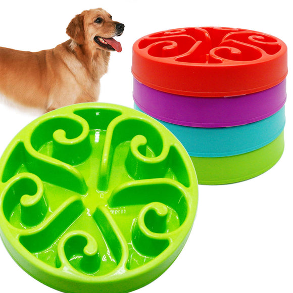 High Quality Pet Dog Feeding Plastic Bowls Fun Feeder Pet Dog Cat Food Slow Feeder Puppy Anti Choke Bowl - Swag for My Dog
