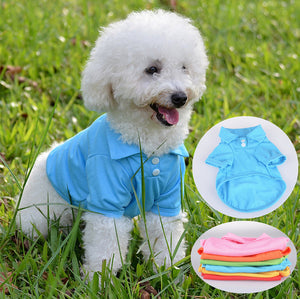 Pet Puppy Summer Polo Shirt Small Dog Cat Pet Clothes Costume Apparel T-Shirt - Swag for My Dog