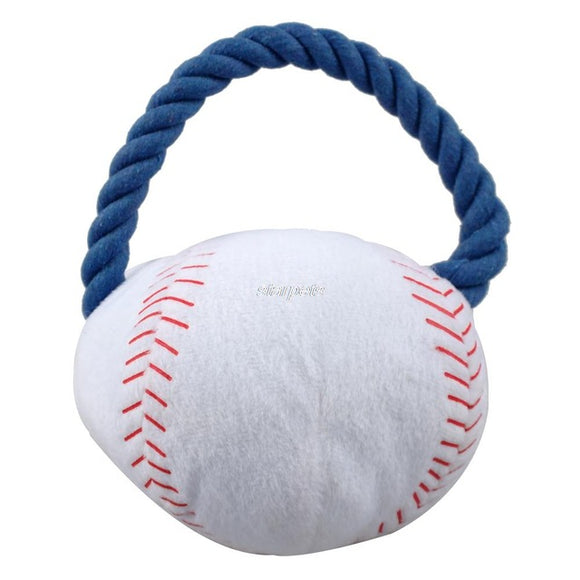 New Arrival Sport Plush Rope Ball Puppy Dog Squeaker Interactive Toys - Swag for My Dog