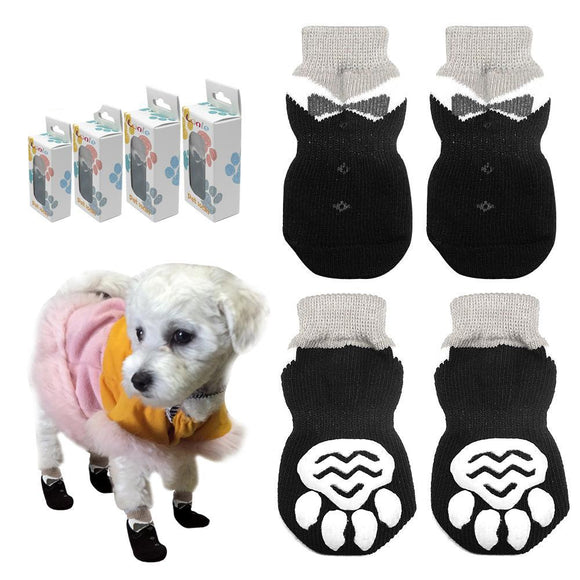 Anti-Slip Knitted Cotton Dog Socks - Swag for My Dog