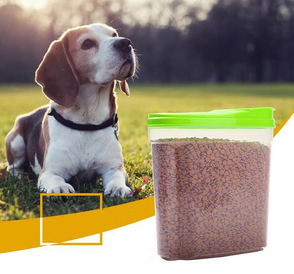 Large Useful Pet Food Storage Barrels Container Dog Cat Pet Dry Food Dispenser Fresh Box Pet Feeding Supplies - Swag for My Dog