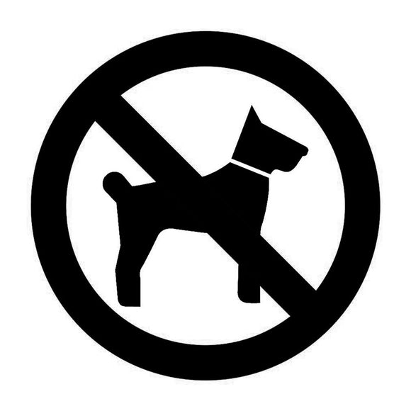 No Dogs Allowed Vinyl Decal - Swag for My Dog