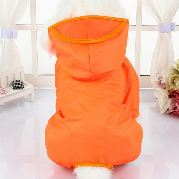 Cute Soft Polyester Waterproof Raincoat with Hoodie for Dogs - Swag for My Dog