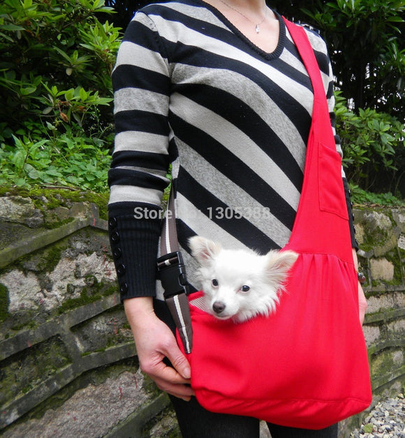 New Red Canvas Pet Sling Dog Cat Carrier Bag Free Shipping by CPAM Bag for dog - Swag for My Dog