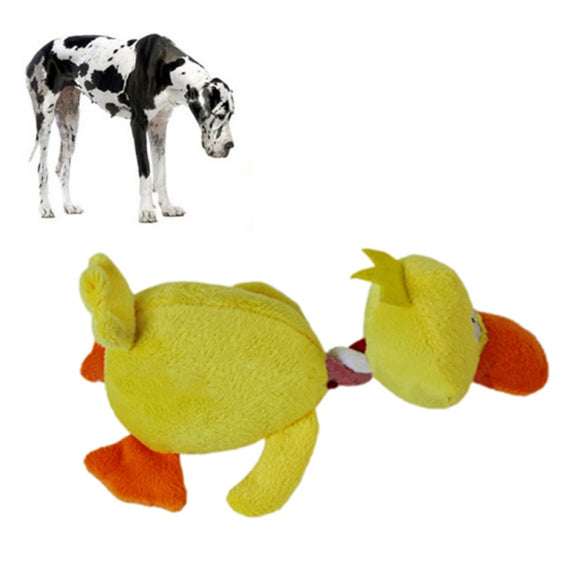 Small Pets Playing Fun Toy   Pet Puppy Dog Toys Plush Duck Shaped Sound Squeaker Chewing Toys  Clean And Exercise Dogs Teeth. - Swag for My Dog
