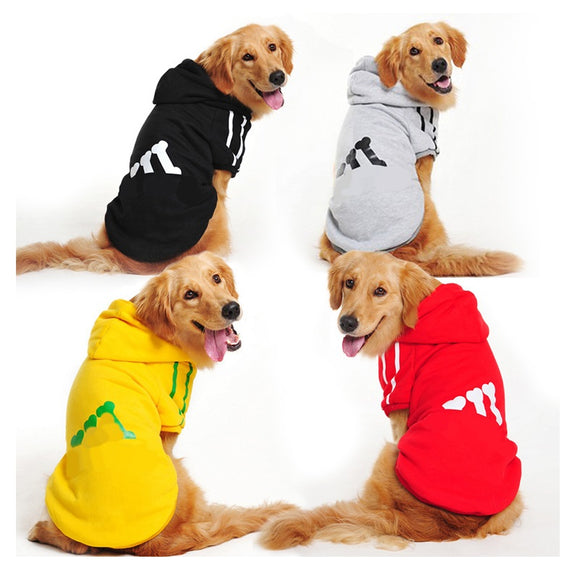 Pet Dog Cotton Clothes For Large Dogs Winter Coat Hoodies Jackets Sportswear T-shirt Sweaters For Labrador Retriever 2XL-9XL - Swag for My Dog