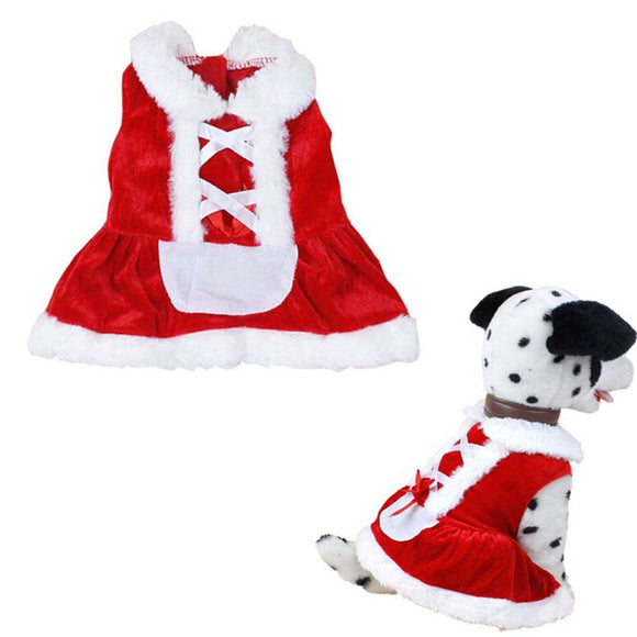 Pet Clothes Winter Christmas Dog Clothes Santa Doggy Costumes Clothing Pet Apparel New Design Pet Dress XS-L Wholesale D26 - Swag for My Dog