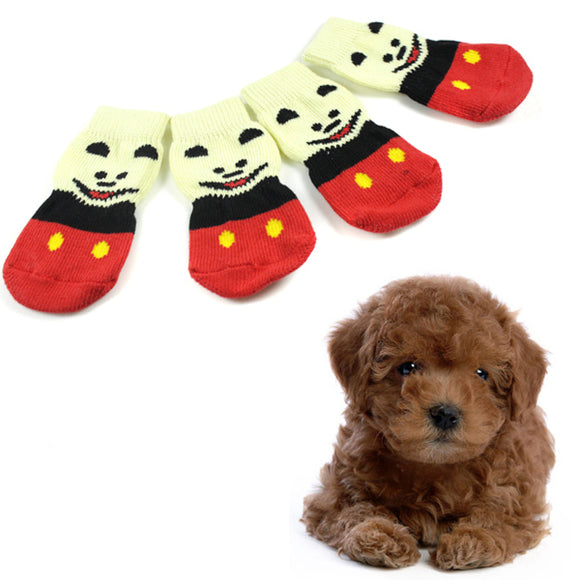 Dog Fashion Anti-Slip Cotton Socks with Cute Print - Swag for My Dog