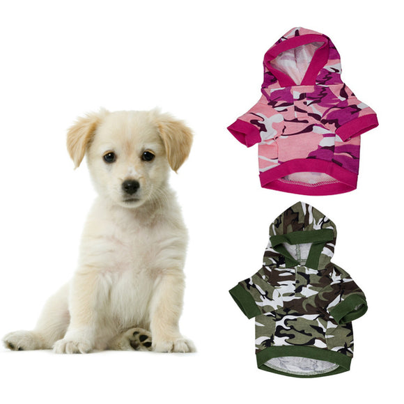 Camouflage Hoodie Sweater for Dogs - Swag for My Dog