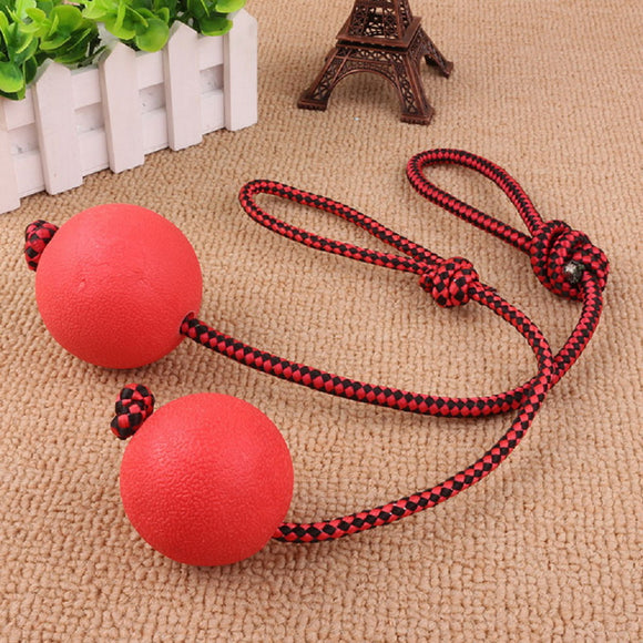 Hot 1pc Solid Rubber Dog Chew Training Ball with Rope Pet Puppy Playing Toy - Swag for My Dog