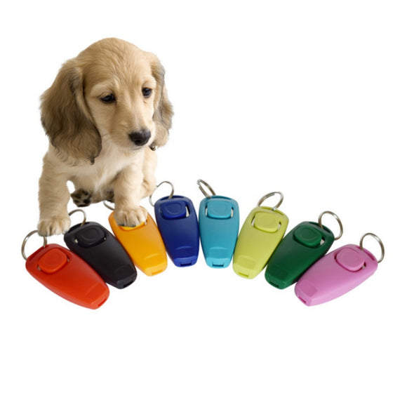 Universal Animal Pet Trainings Clicker Obedience Aid + Wrist Strap Pet Dogs Ultrasonic Whistle Remote Dog Training - Swag for My Dog