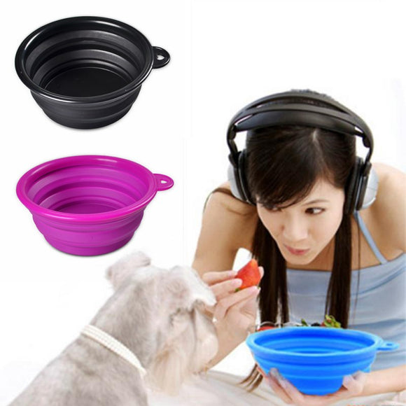 Pet Cat Dog Outdoor Travel Portable Foldable Collapsible Pet Bowls Food Water  Feeding Silicone Bowl Dish Feeder - Swag for My Dog