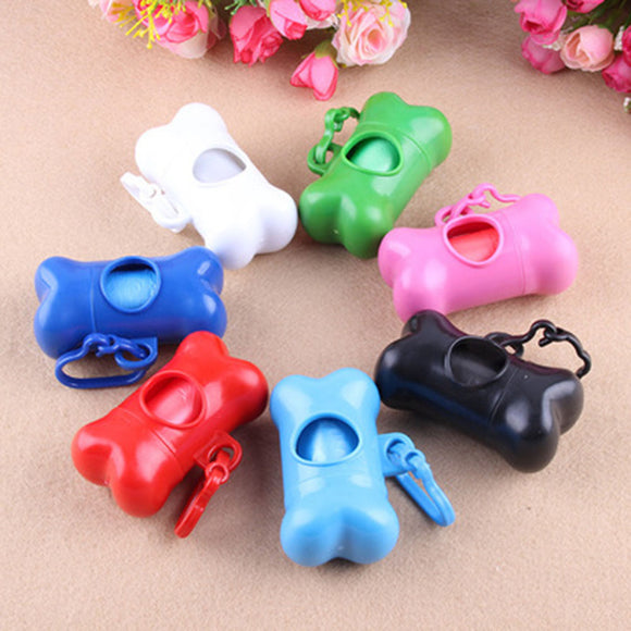 Roll Pet Dog Garbage Waste Poop Carrier Bags With Colorful Bone Trash Bag Dispenser Case - Swag for My Dog