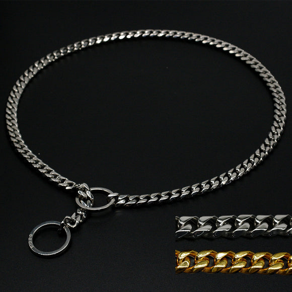 Stainless Steel Dog Training Choke Collar Metal Slip Chain - Swag for My Dog