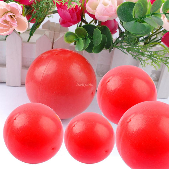 Red Smooth Indestructible Dog Chew Toy Solid Pet Ball Training Toys - Swag for My Dog