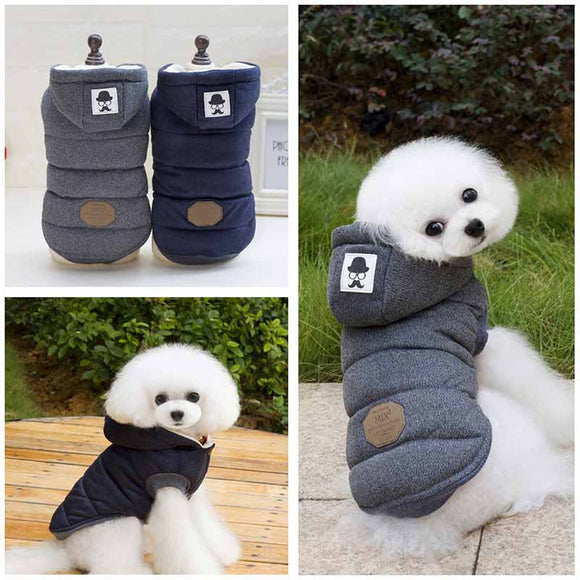 High Quality New Winter Dog Clothing Gray Pet Apparel Modern Stylish Dog Coat Jacket Cotton-padded Clothes for Dogs Pet Product - Swag for My Dog