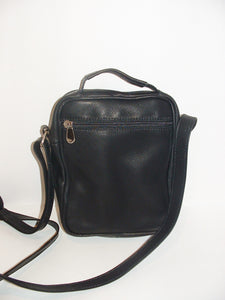 Small BLACK GENUINE LEATHER Crossbody Bag by Katz, Women's Small Leather Bag, Men Leather Handbag Satchel, handmade purse, leather messenger