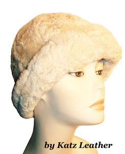 Sheepskin winter hat by Ben Katz. Real shearling, super warm. Classic design.