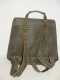 Genuine Waxed Leather Backpack, Unisex , color Green English-Green Handmade by Ben Katz