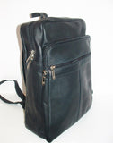 Genuine Leather Backpack, SUPER LIGHT and SOFT, Unisex , color Black, Handmade by Ben Katz Free Shipping to United States and Canada.