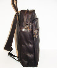 Genuine Leather Backpack, SUPER LIGHT and SOFT, Unisex , color Dark Brown, Handmade by Ben Katz Free Shipping to United States and Canada.