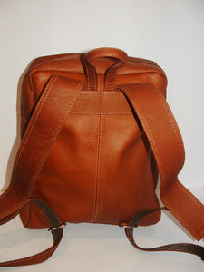 Genuine Leather Backpack, SUPER LIGHT and SOFT, Unisex , color TAN, Handmade by Ben Katz Free Shipping to United States and Canada.