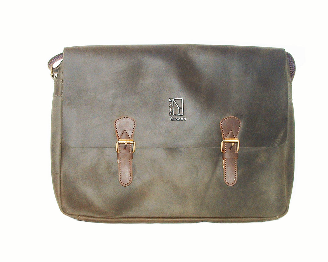 Leather Shoulder Bag for Laptop