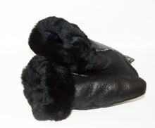 Warm Black Sheepskin shearling Mittens
