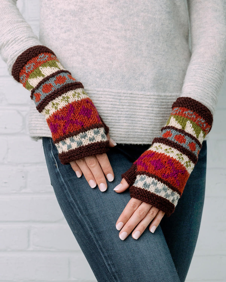 Rising Tide Alpine Wool Knit Half Mitten