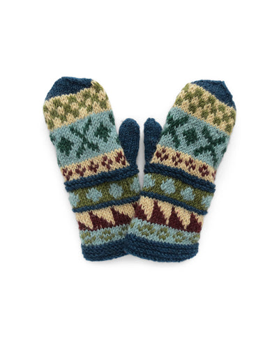 Rising Tide Alpine Wool Knit Mitten