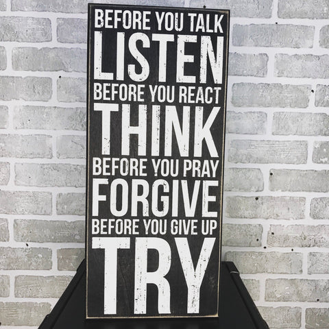 Listen Think Forgive Try