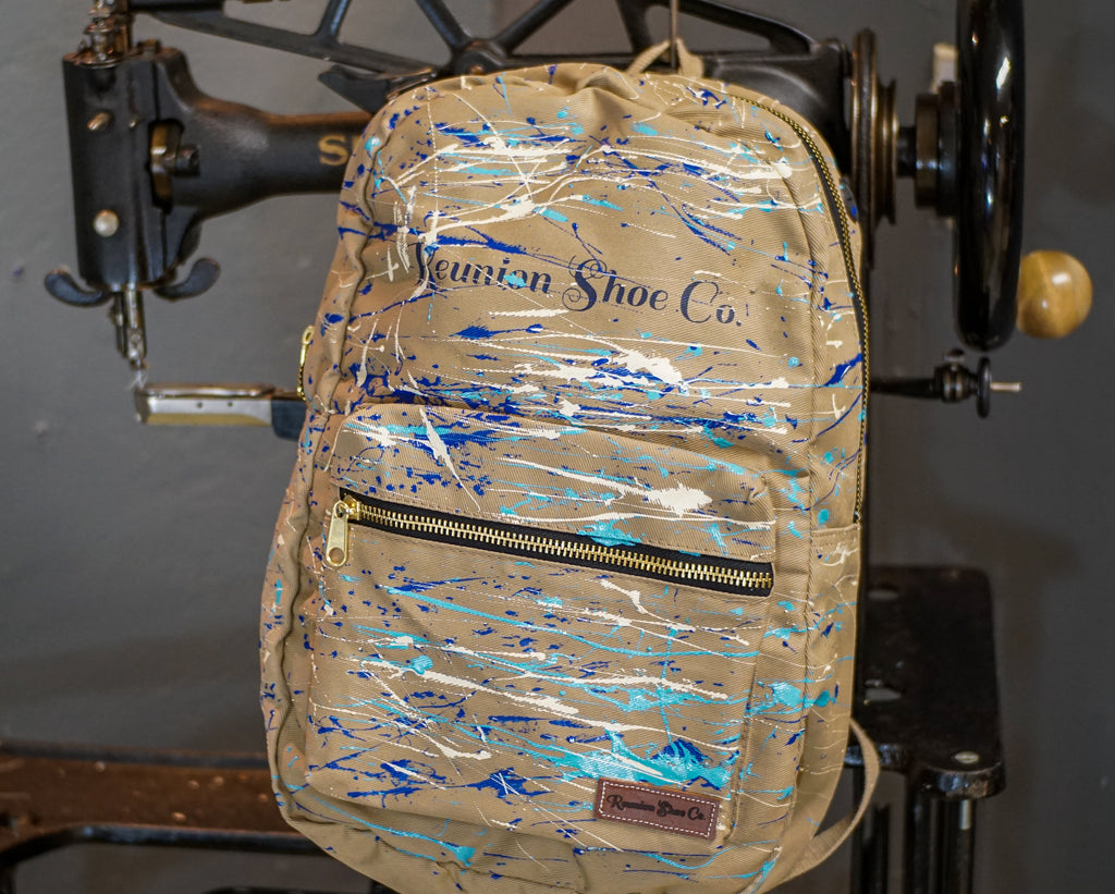 Painted Canvas Backpack
