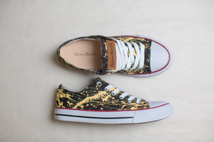 Women's Black & Gold Low Top