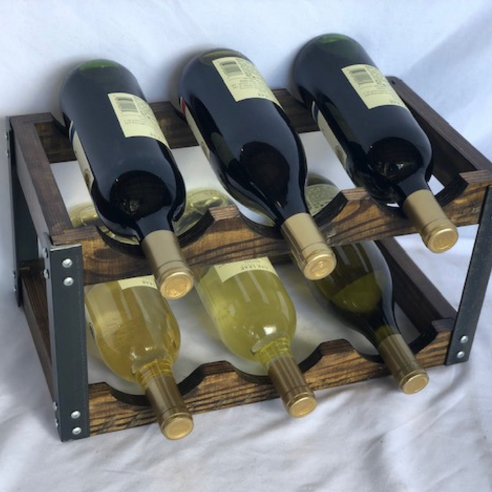 Rustic Wine Rack | 6 Bottle