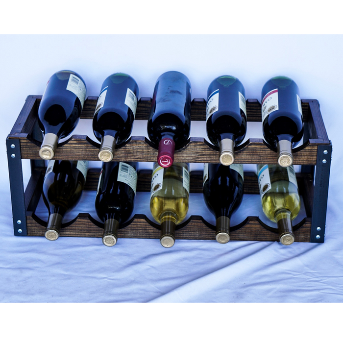 Rustic Wine Rack | 10 Bottle