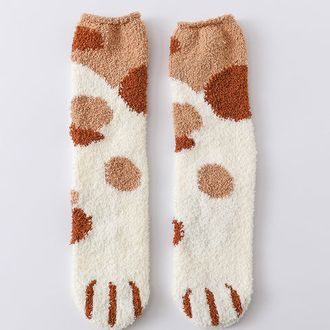 Cute Paw Print Socks