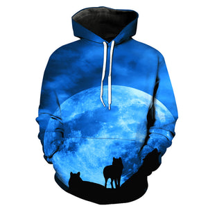 3D Wolf Hooded Sweatshirt