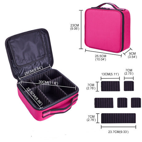 Makeup Bag & Cosmetic Travel Organizer