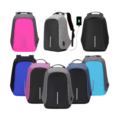 Water Resistant USB Charging Backpack