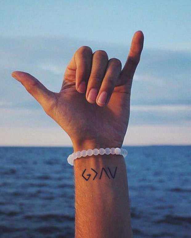 God is greater Tattoo