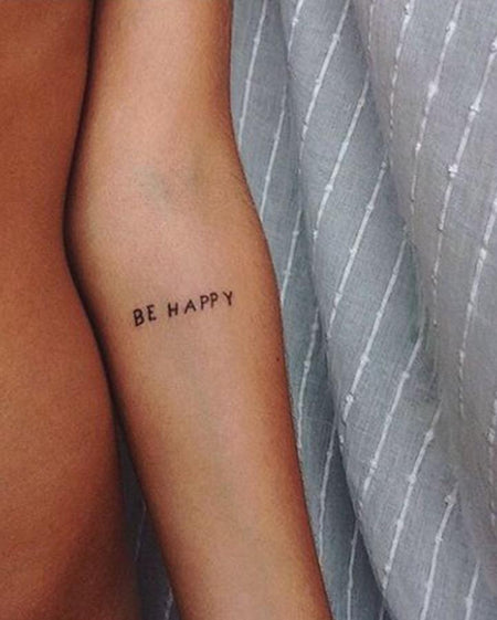 NEW Be Happy Tattoo