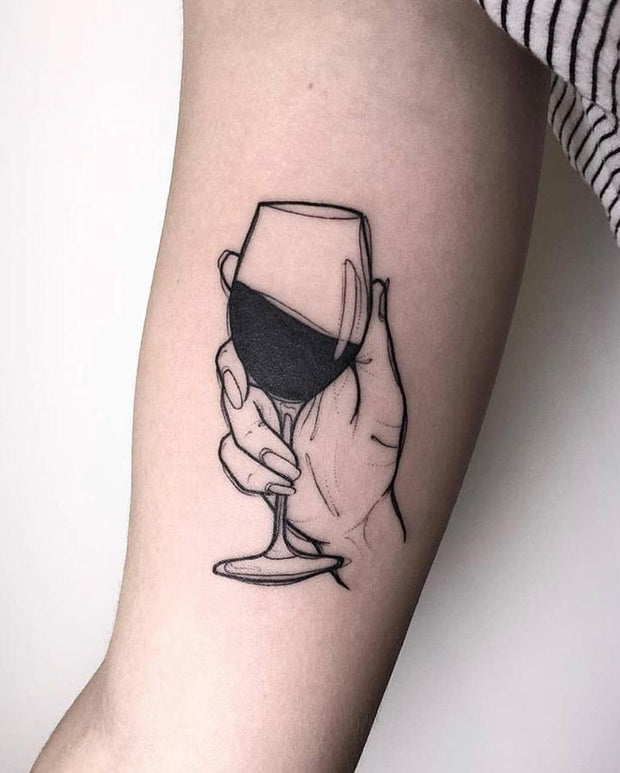 NEW Wine Lover Tattoo.