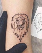 Geometric Lion Tattoo.