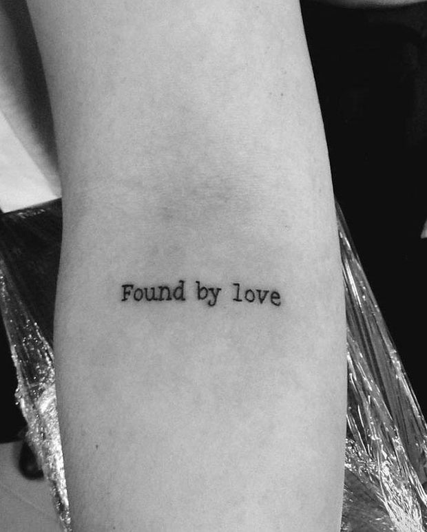 Found by Love Tattoo.