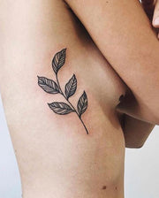 Geometric Leaves Tattoo.